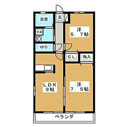 コッタウン I[2階]の間取り