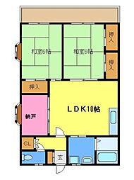 埼玉県さいたま市見沼区大字上山口新田の賃貸アパートの間取り