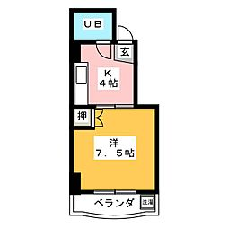 コーポABC[4階]の間取り