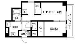 ブルーノ夙川[201号室]の間取り