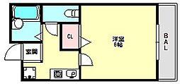 兵庫県神戸市西区玉津町上池の賃貸マンションの間取り