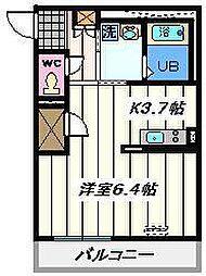 東京都江戸川区北小岩3丁目の賃貸マンションの間取り