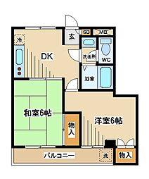 東京都府中市紅葉丘1丁目の賃貸マンションの間取り