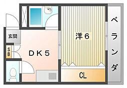 スカイコートII[5階]の間取り