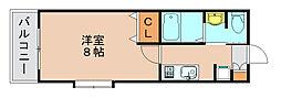 サンロージュ箱崎駅前[7階]の間取り