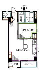 JR中央本線 吉祥寺駅 徒歩9分の賃貸マンション 3階1LDKの間取り
