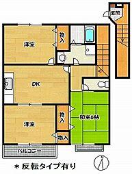 サンフロール神戸北1[2階]の間取り
