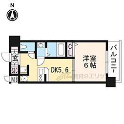 JR東海道・山陽本線 西大路駅 徒歩12分の賃貸マンション 3階1DKの間取り