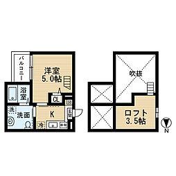 愛知県名古屋市中村区中村町5丁目の賃貸アパートの間取り
