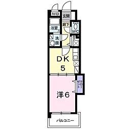 カーサgialla[1階]の間取り