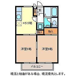 アーバンライフ稲田[2階]の間取り
