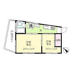 千代田ビル[4階]の間取り
