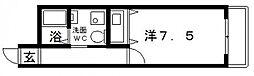 大阪府大阪市住吉区遠里小野5丁目の賃貸マンションの間取り