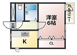 KSハイム[5階]の間取り