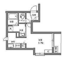 東京メトロ丸ノ内線 新宿三丁目駅 徒歩5分の賃貸マンション 3階ワンルームの間取り