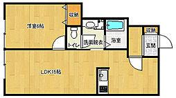 京都府京都市伏見区桃山町丹下の賃貸アパートの間取り