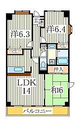 クエスタ柏[2階]の間取り