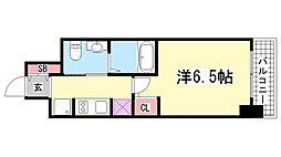 エステムプラザ神戸三宮ルクシア[203号室]の間取り