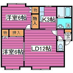 北海道札幌市東区北四十六条東10丁目の賃貸アパートの間取り
