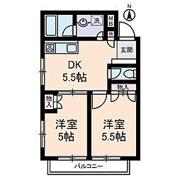 クレッセン経堂[1階]の間取り