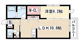 愛知県名古屋市昭和区桜山町4丁目の賃貸アパートの間取り