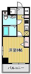 神奈川県川崎市中原区小杉陣屋町2丁目の賃貸マンションの間取り
