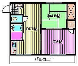 錦町マンション[2D号室]の間取り