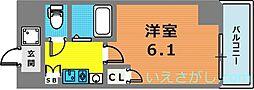 エステムコート新神戸エリタージュ[2階]の間取り