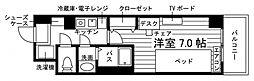 学生会館 Aile(エール)草薙駅前[食事付き] 6階1Kの間取り