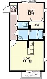 (仮)堤西シャーメゾン[1階]の間取り