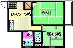 本田マンション[4階]の間取り