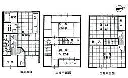 [一戸建] 京都府宇治市五ケ庄新開 の賃貸【/】の間取り