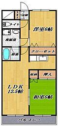 鷺沼ビラスズキ2号館[203号室号室]の間取り