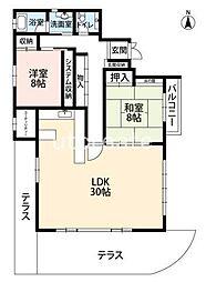 阪急神戸本線 中津駅 徒歩10分の賃貸マンション 9階2LDKの間取り