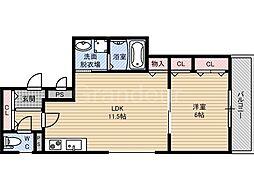 クリエオーレ稲田本町[3階]の間取り