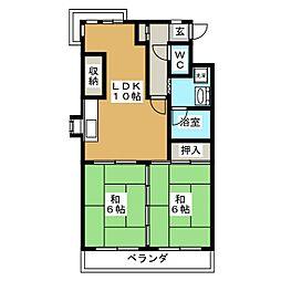 メゾン徳III[3階]の間取り