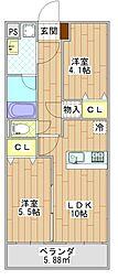 千葉県千葉市中央区千葉寺町の賃貸マンションの間取り