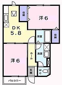 間取り(ローズ・クロス西館)