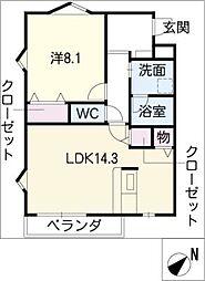 Lobelia Misaki[3階]の間取り