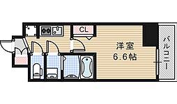 JR大阪環状線 桃谷駅 徒歩15分の賃貸マンション 2階1Kの間取り