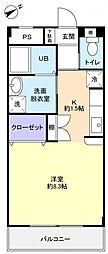 ソエダマンション弐番館[1階]の間取り