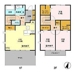 仮)D−roomセントラルパークD[102号室]の間取り