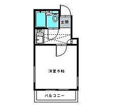 ジュネパレス新松戸第37[1階]の間取り