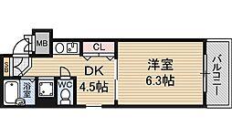 エステムコート新大阪[3階]の間取り