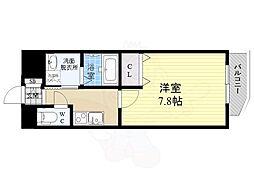 阪神本線 姫島駅 徒歩7分の賃貸マンション 7階1Kの間取り