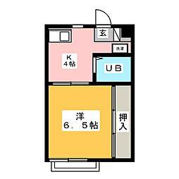 ハイツ大三[2階]の間取り