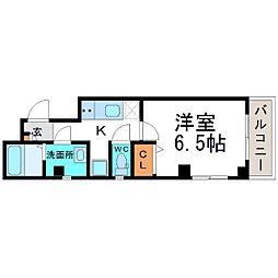 兵庫県尼崎市東大物町2丁目の賃貸マンションの間取り