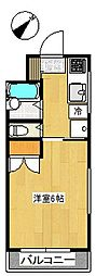ビラ長島[1階]の間取り