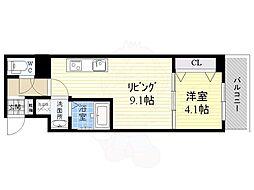 S-RESIDENCE江坂Eminence 14階1LDKの間取り