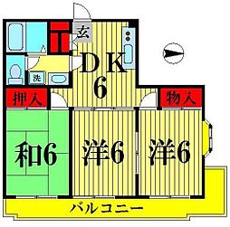 トーシンハイム[406号室]の間取り